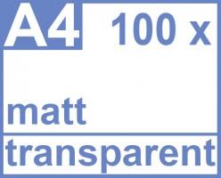 Faxland De Klebefolie 100 X Din A4 Transparent Matt Druckerfolie