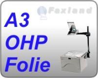 Faxland OHP Folie A3, 100 Druckerfolien, OHP Folie Overhead A3 für s/w Laserdrucker FL10_16