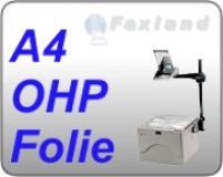Faxland OHP Folie A4, 100 Druckerfolien, mit Schutzblatt für s/w Laserdrucker FL14_31