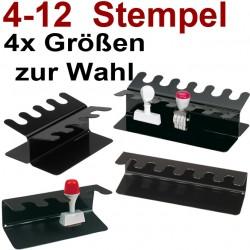 Faxland Für 6 Stempel gerader Stempelträger, Stempelleiste 6-fach Schwarz Stempelhalter StempGer6bk_5220690
